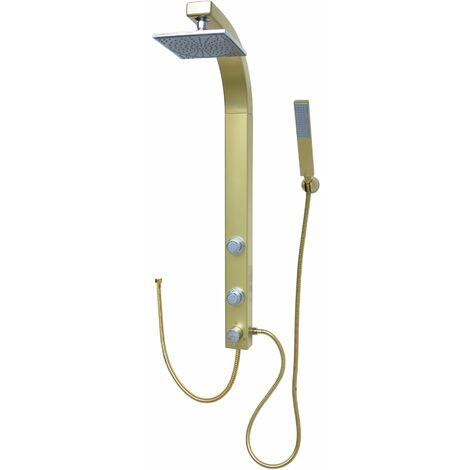 Duschpaneel Gold Duschsäule Regendusche Duschset ohne Armatur