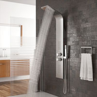 Duschpaneel mit LED Beleuchtung Wasserfall Regendusche und SEDAL Thermostat