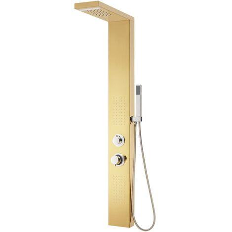 Duschpaneel-System Edelstahl 201 Golden