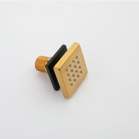 Duschraum Dusche Dusche, Gold und schwarzes Quadrat