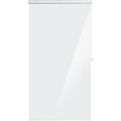 Duschrollo, 100x240 cm, Seilzugrollo für Dusche & Badewanne, wasserabweisend, Decke Spuckschutz, durchsichtig