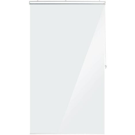Duschrollo, 120x240 cm, Seilzugrollo für Dusche & Badewanne, wasserabweisend, Decke Spuckschutz, durchsichtig