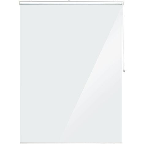Duschrollo, 160x240 cm, Seilzugrollo für Dusche & Badewanne, wasserabweisend, Decke Spuckschutz, durchsichtig