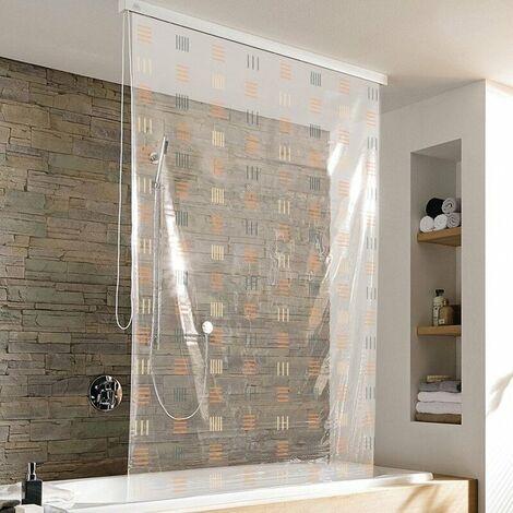 Duschrollo incl. Kassette Duschvorhang Kassetten Duschrollo von KLEINE WOLKE - Design Kupfer - 128x240