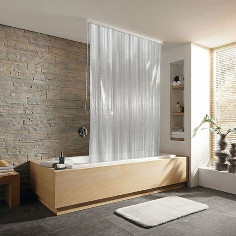 Duschrollo incl. Kassette Duschvorhang Kassetten Duschrollo von KLEINE WOLKE - Design Milky weiß - 128x240