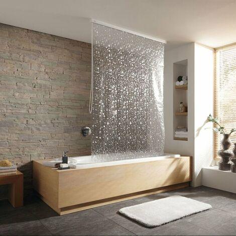 Duschrollo incl. Kassette Duschvorhang Kassetten Duschrollo von KLEINE WOLKE - Design Perlmutt - 128x240