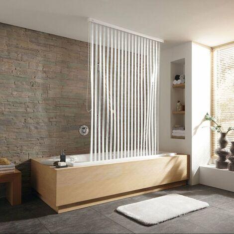 Duschrollo incl. Kassette Duschvorhang Kassetten Duschrollo von KLEINE WOLKE - Design Streifen weiß - 128x240