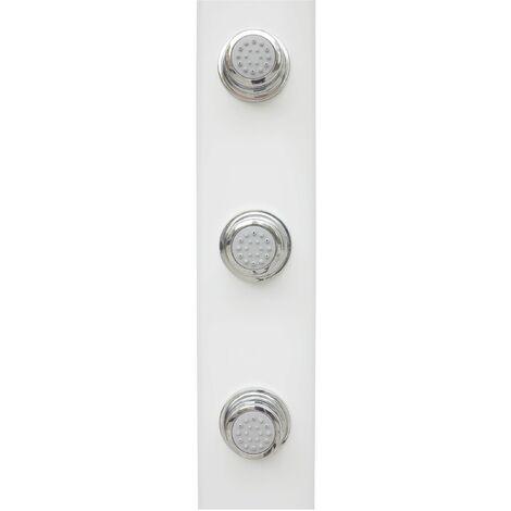 Duschsäule Thermostat Duschpaneel Regendusche Weiß Eckmontage