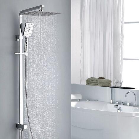 Duschset Duschsäule Regendusche Duschset mit Überkopfbrause und Handbrause Duschsäule ohne Armatur Duschsystem mit Umsteller