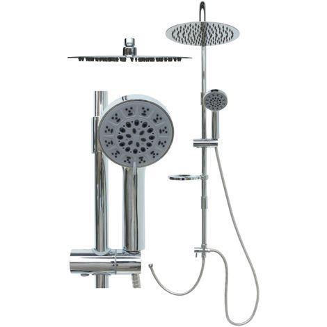 Duschset Duschsystem Duschstange Regendusche variable Halter PG2226-10R