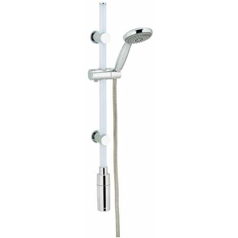 Duschstange Duscharmatur Regendusche Duschset Duschsystem LED Warmweiß 74cm