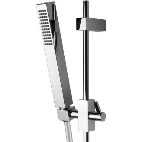 Duschstange Set mit Handbrause Brauseschlauch Aufputz Dusche