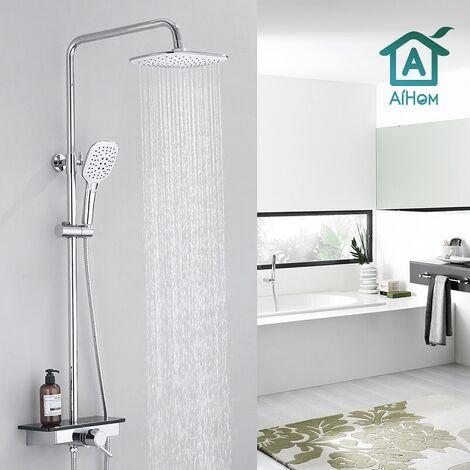 Duschsystem mit Thermostat Duscharmatur Duschset mit Rainshower Handbrause Duschkopf Regendusche Dusche Armatur Duschpaneel