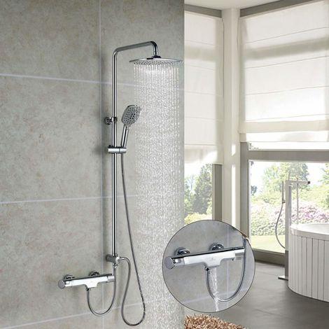 Beliebt Duschsystem mit Thermostat Trennbar 3 Funktionen Duschset LK74