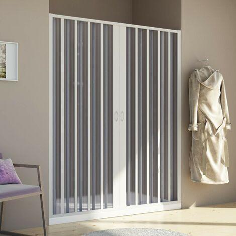 Duschtür in PVC mod. Aura mit zentraler Öffnung