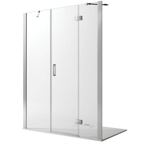 Duschtür mit Easy-Clean Mod. Flip Tür + feste Scheibe