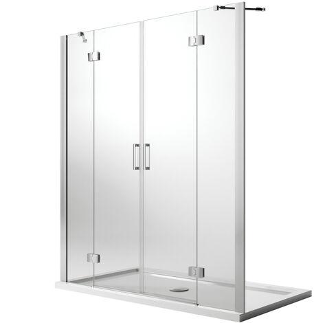 Duschtür mit Easy-Clean Mod. Flip Tür + Tür