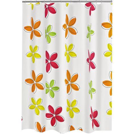 Duschvorhang Textil Fleur multicolor 180x200 cm