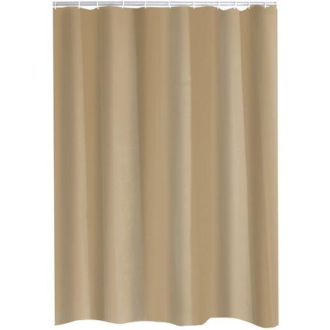 Duschvorhang Textil Madison inkl. Ringe beige 120x200 cm