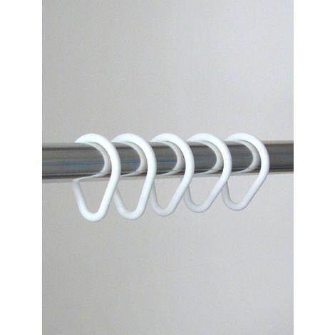 Duschvorhangringe Kunststoff (VPE: 12 Stück) weiß