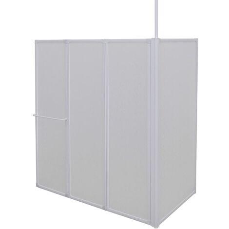 Duschwand Duschabtrennung 70 x 120 x 140 cm 4 Faltwände