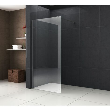 Duschwand TIPO mit schwarzen Anbauteilen