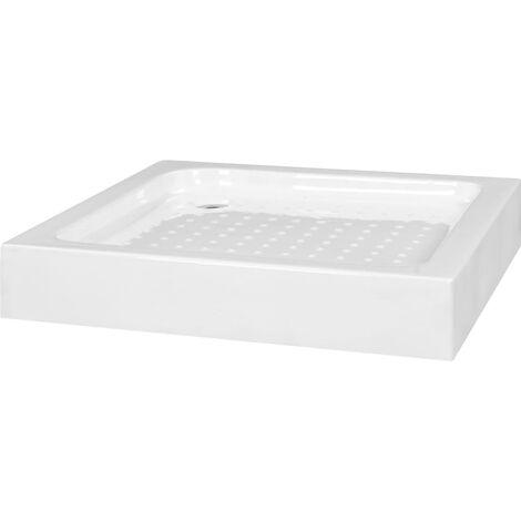 Duschwanne 70×70×13,5 cm Acryl Weiß