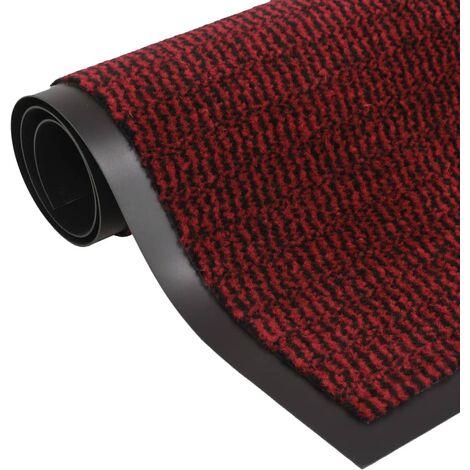 Dust Control Mat Rectangular Tufted 60x90 cm Red