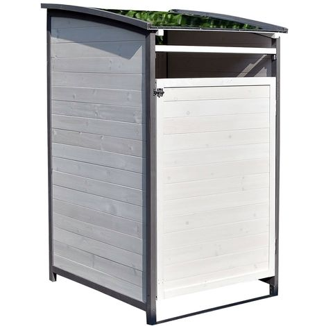 Dustbin box - Extension box - white/grey