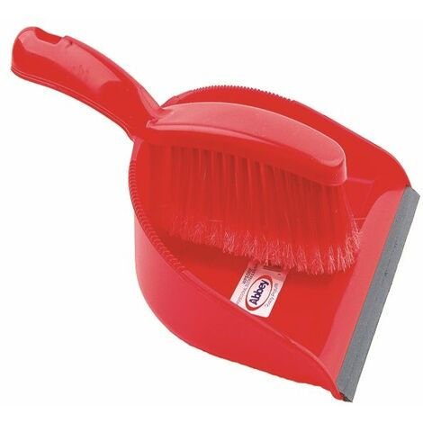 Dustpan and Brush Set Red 102940RD - CX03970