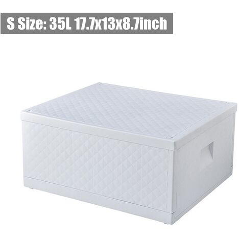 Dustproof Foldable Storage Box Closet Drawer Stackable 45x33x22cm S