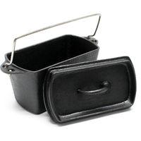 Dutch Oven Box Shape Cast Iron Cooking Pot Roaster Baking Bread Cake Pan