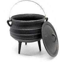 Dutch Oven Cast Iron Kettle 8L Cooking Equipment for Camping Outdoor
