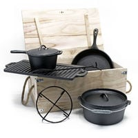 Dutch Oven set Cast Iron 6 pcs Cooking Equipment for Camping Outdoor