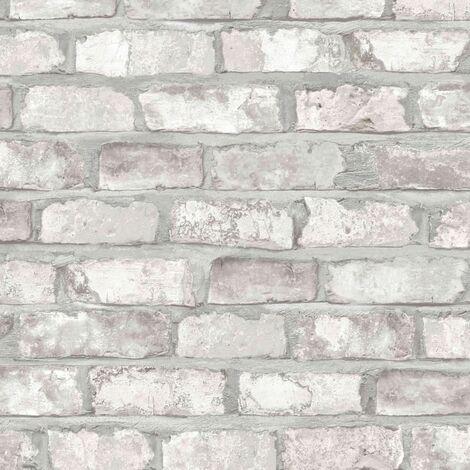 c6067199957e5 DUTCH WALLCOVERINGS Papel de pared ladrillos blanco EW3104