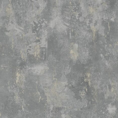 DUTCH WALLCOVERINGS Papel de pared pintado hormigón gris TP1008