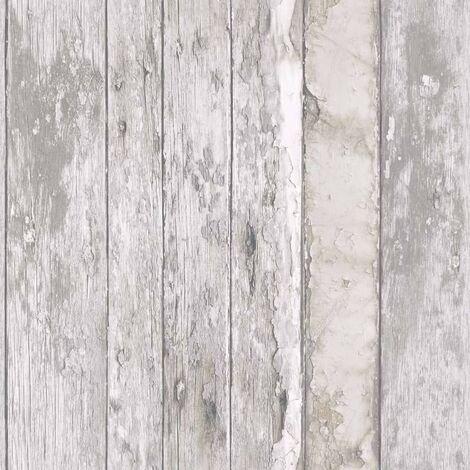 DUTCH WALLCOVERINGS Papel pintado madera desgastada beige