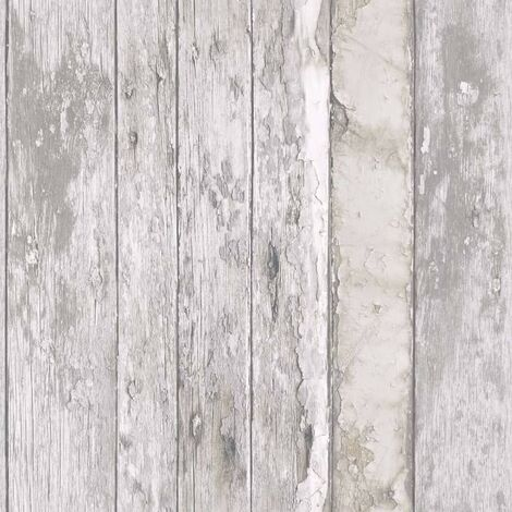 DUTCH WALLCOVERINGS Papel pintado madera desgastada beige - Beige