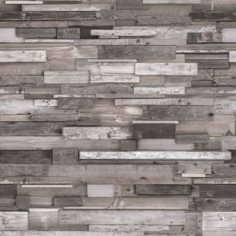 Image of DUTCH WALLCOVERINGS Photo Mural 3D Woods Grey - Grey