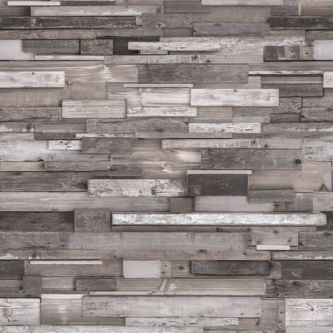 DUTCH WALLCOVERINGS Photo Mural 3D Woods Grey - Grey