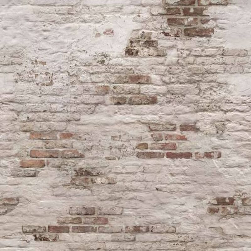 Image of DUTCH WALLCOVERINGS Photo Mural Old Brick Wall Beige and Brown - Beige