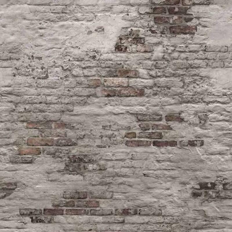 Image of DUTCH WALLCOVERINGS Photo Mural Old Brick Wall Grey - Grey