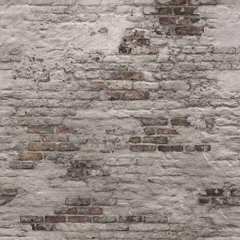 DUTCH WALLCOVERINGS Photo Mural Old Brick Wall Grey - Grey