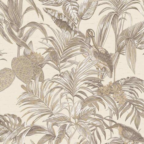 DUTCH WALLCOVERINGS Wallpaper Bird-of-Paradise Cream