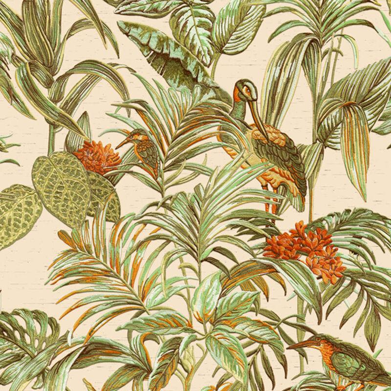 Image of Wallpaper Bird-of-Paradise Green - Green - Dutch Wallcoverings