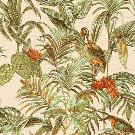 DUTCH WALLCOVERINGS Wallpaper Bird-of-Paradise Green