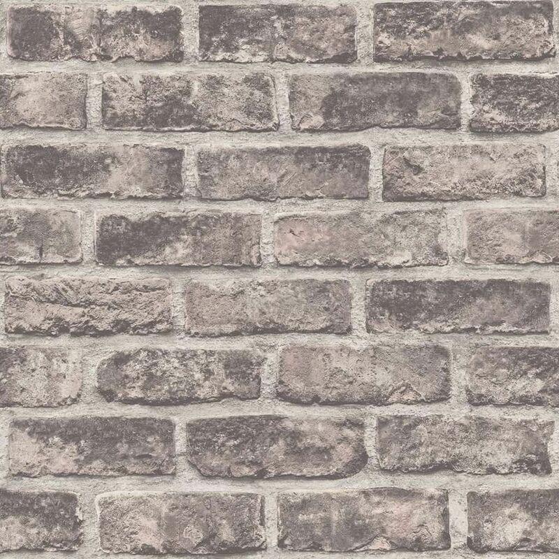 Image of DUTCH WALLCOVERINGS Wallpaper Bricks Brown - Brown