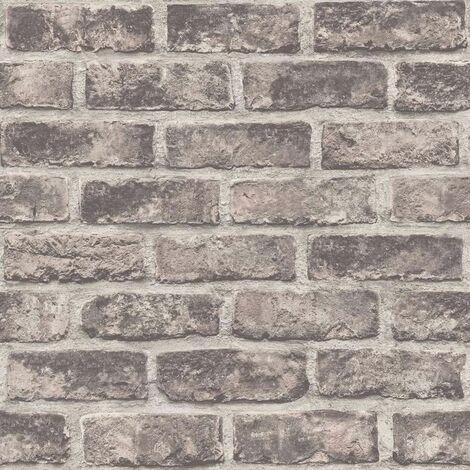 DUTCH WALLCOVERINGS Wallpaper Bricks Brown