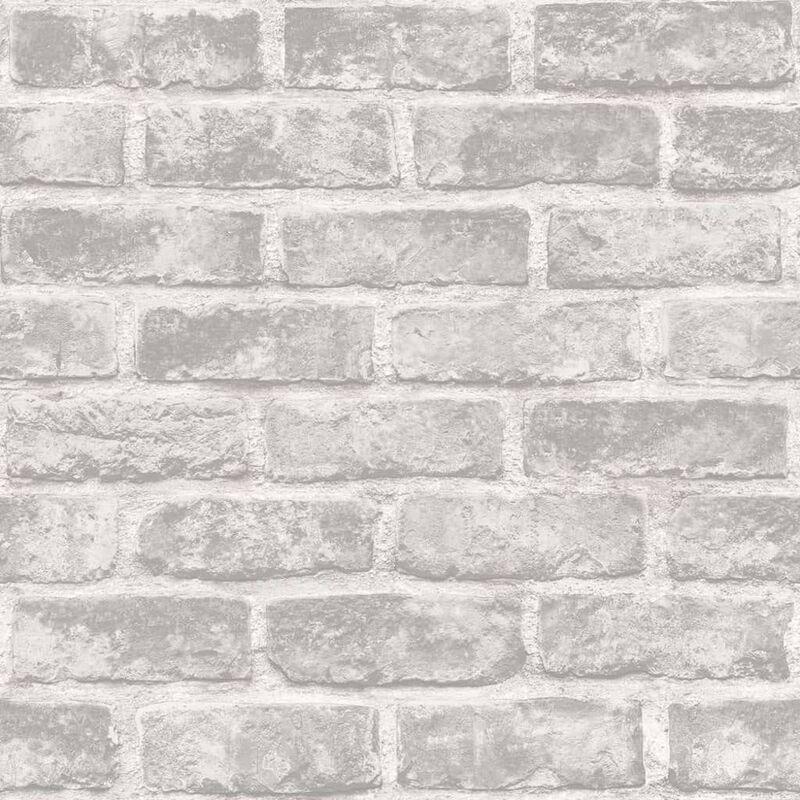 Image of Wallpaper Bricks Grey - Grey - Dutch Wallcoverings