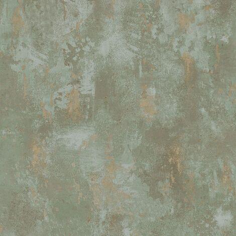 DUTCH WALLCOVERINGS Wallpaper Concrete Green TP1010